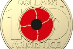 2018 Amistice Centenary Colour Two Dollar Circ. Rev. Al/Br
