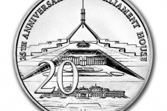 25th Anniversary of Parliament House 20 Cent