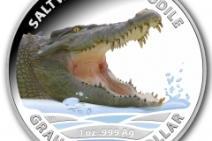 Australian Saltwater Crocodile - Graham 2014 $1 Silver Colour Printed Proof coin