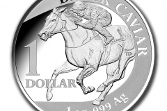 Black Caviar One Dollar Silver Proof coin