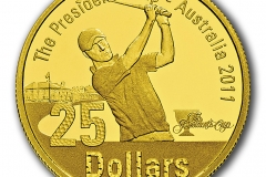 The Presidents Cup One Dollar Gold Proof