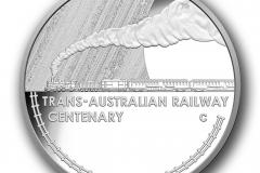 Trans Australian Railway One Dollar proof silver C Mintmark