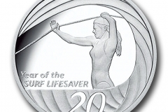 Year of the Surf Lifesaver 20 Cent Silver Proof coin