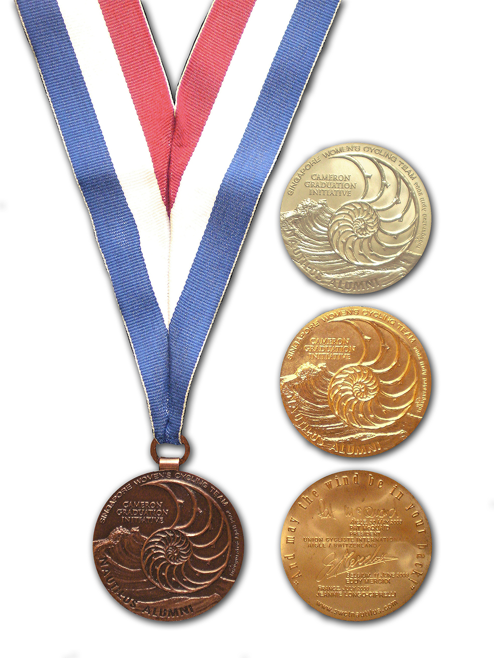 Singapore Womens Cycling Team medal set