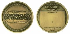 International Association of Geomorphologists Brunsden Medal Obv and Rev