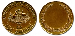Department of Defence 30 Year Service medal