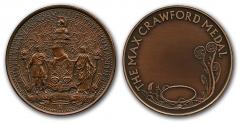 Max Crawford medal obv and rev
