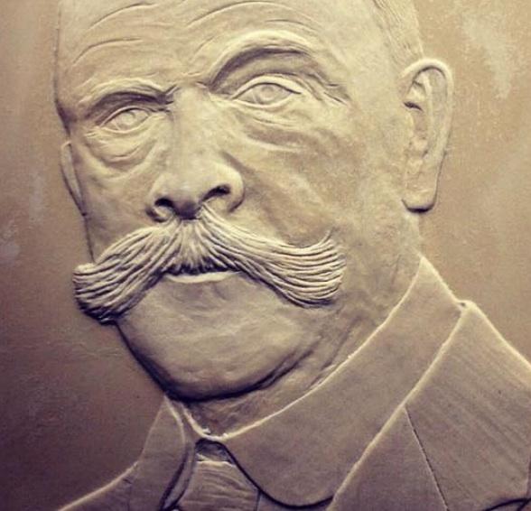 Arthur Streeton in plaster detail