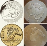Black Caviar Coins and respective plaster models