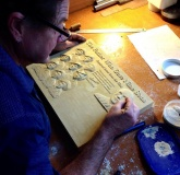 Bronze Plaque sculpting in plaster