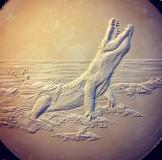 Monty crocodile coin plaster